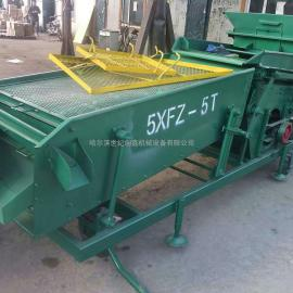 黑龙江哈尔滨世纪创鑫5XZF-5小型玉米筛子 专业生产质量可靠