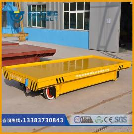 蓄电池轨道电动无轨平车压铸机搬运车牵引平板拖车精确度1mm