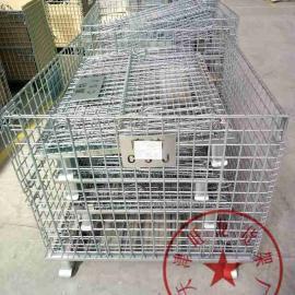 天津仓储笼铁笼物流笼快递笼子镀锌折叠笼蝴蝶笼周转箱定做
