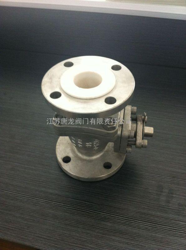 q41f46-10p/r不锈钢衬里球阀-cf8材质图片
