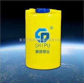 水处理混合容器 500L 圆形PE加药箱 四川环保药箱价格