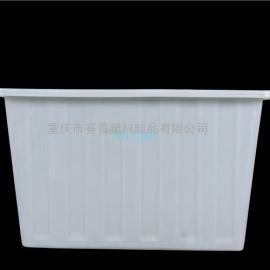 K-1100L牛筋盆 白色塑料水产方箱 白色牛筋桶专产