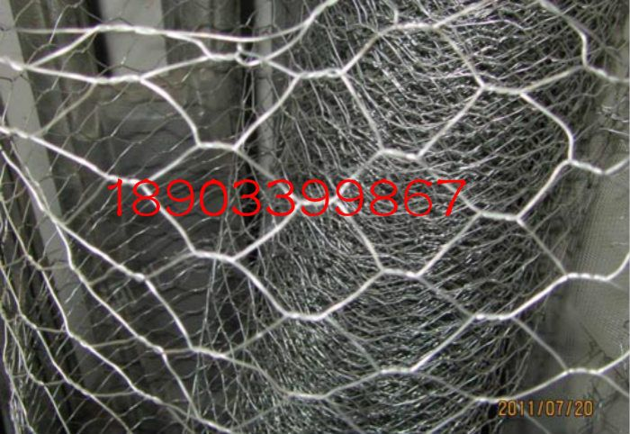六安河堤固定机编高锌石笼网8*13六角镀锌钢丝网-欢迎加工