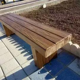 仿木水泥座椅 景区仿木纹长椅 厂家定做景区仿木户外座椅
