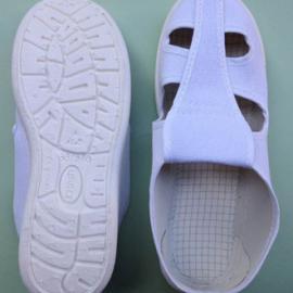 SPU底皮革面四孔防静电鞋