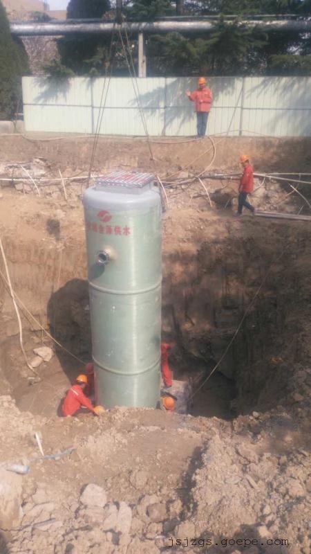 内蒙丰镇县3.8×12米地埋式污水处理专用泵站