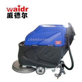 车间地面清洗车 水渍污泥清洁专用威德尔手推式洗地机
