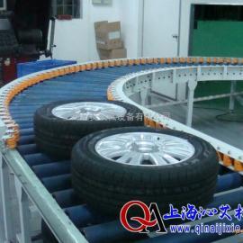 上海沁艾机械,轮胎物流输送设备,包胶滚筒输送机