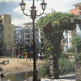 户外2.5米3米双头庭院景观灯小区公园路灯LED别墅花园广场灯