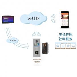 云可视对讲系统解决方案 云平台 手机APP远程可视对讲开门