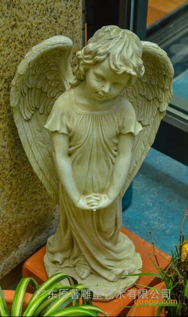 广东原著雕塑纯手工制作欧式人物雕塑 大理石持果篮的儿童雕塑批