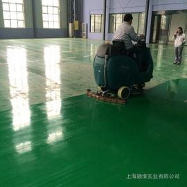 大型车展机场地下车库专用洗地机洁乐美双刷驾驶式洗地机9600