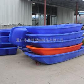 广西双层加厚塑料渔船 耐撞击尖头小船 3米打鱼撒网船