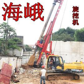 基建工程卵石层钻桩履带打桩机钻头分类