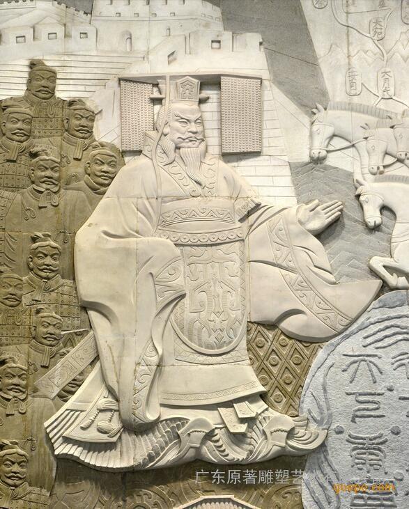 广东原著浮雕壁画厂家供应石雕二十四孝浮雕戏彩娱亲浮雕批发图片