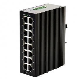 汉源高科千兆16口工业级以太网交换机DIN导轨式�\40 ℃ ~ +85