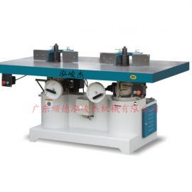 供应泓峻杰木工机械设备 立式重型双轴木工铣床 立铣机价格