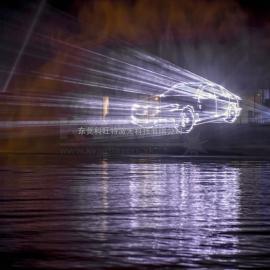 KVANT广告激光投影,文字激光投影