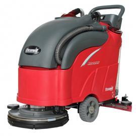 手推式洗地机XD18W,无锡克力威电瓶式环氧地面拖地机-无锡洗地机