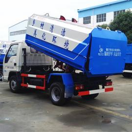 240升小型挂桶垃圾车价格-蓝牌挂桶垃圾车价格