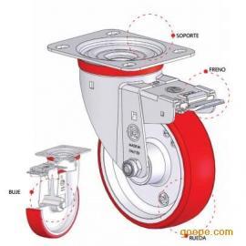 叉车脚轮万向轮-AGV小车工业脚轮-聚氨酯万向轮-TR万向轮