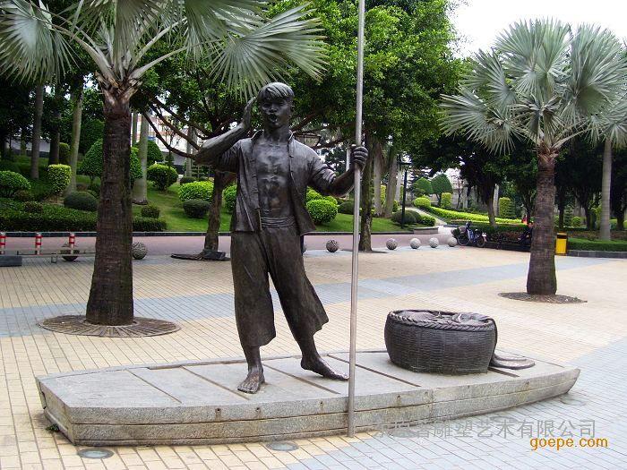 原著供应铸铜渔民文化雕塑 大型公园雕塑批发 步行街雕塑摆件