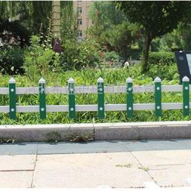 希盟银川PVC草坪护栏厂家塑钢护栏厂家30cm绿化带护栏