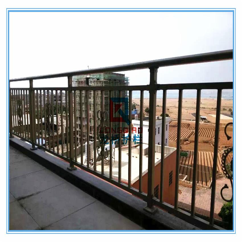 高淳阳台护栏 别墅阳台护栏 高档铝合金阳台护栏 龙桥制造