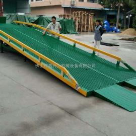 鑫升力厂家直销可定制登车桥颜色 电动叉车上货平台
