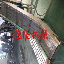 皮带爬坡提升机无动力滚筒式输送机180度转弯机爬坡流水线