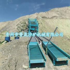 淘金率高的青州淘金溜槽、鼓动选金溜槽、矿物重选鼓动选金溜槽