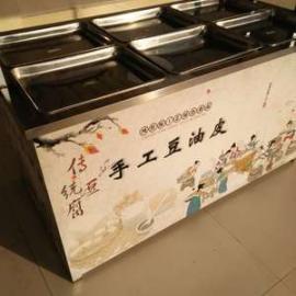 腐竹油皮机电气两用油皮机价格 可定做免费培训技术