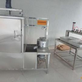 厂家优惠 气压双排豆腐 成型机不锈钢花生豆腐机电气两用