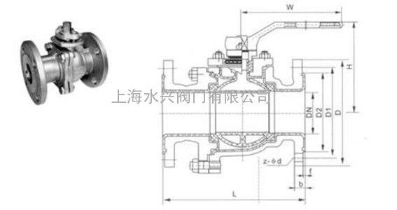 阀 球阀 上海水兴阀门有限公司 产品展示 球阀 手动球阀 > q41f软密封图片
