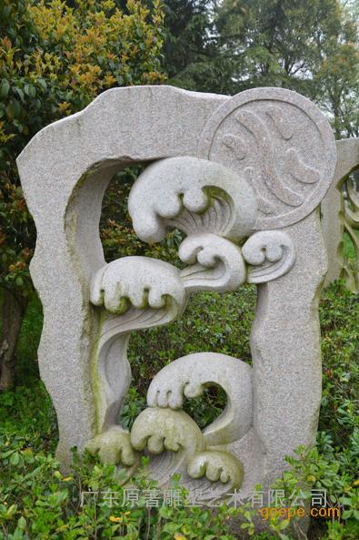 东莞原著石雕工厂纯手工制作石雕五行雕塑 公园绿地花园摆件