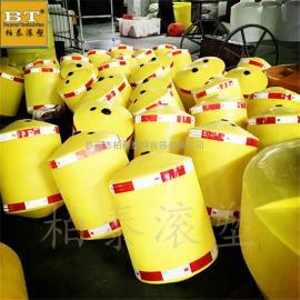 邢台水库治理塑料浮筒 两半片螺栓固定串联式水上浮筒