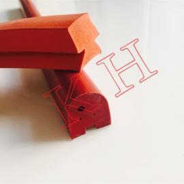 红色硅胶发泡条 耐高温硅胶密封条红色