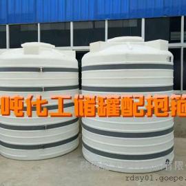 5方定做塑料水箱 耐酸�A5��平底立式�A柱塑料水塔