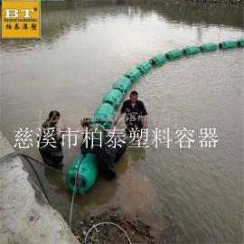 厂家供应300*600塑料浮筒 两半片螺栓固定管线拦污浮筒
