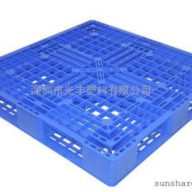 厂家直销1.1*1.1米田字型塑胶卡板|防潮板