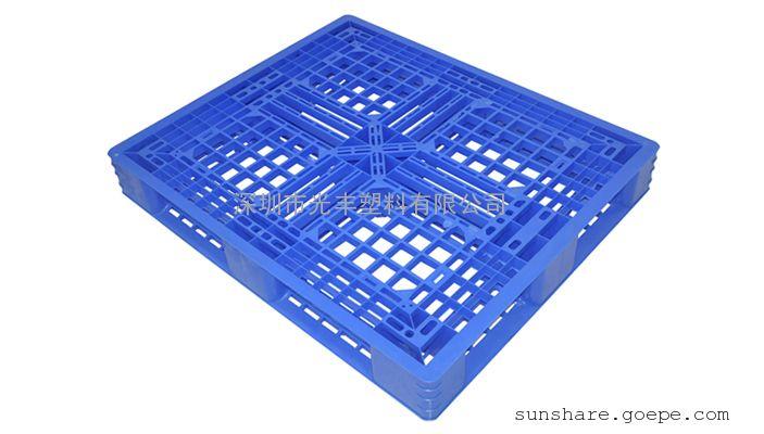 供应1.2*1米田字型塑料卡板高150MM 地台板 栈板