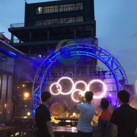 户外酒吧喷雾降温/露天餐厅自动化喷雾设备高效降温系统