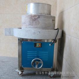 普宁电动石磨磨浆机可升降式磨盘、清洁方便