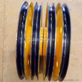50t轧制滑轮起升滑轮组 卷扬机提升动定滑轮 定做各类滑轮
