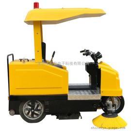 厂家直销电动扫地车扫地机清扫车-自动洒水清扫吸尘收集垃圾落叶