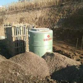 山西3800x8500地埋式一体化预制泵站玻璃钢筒体