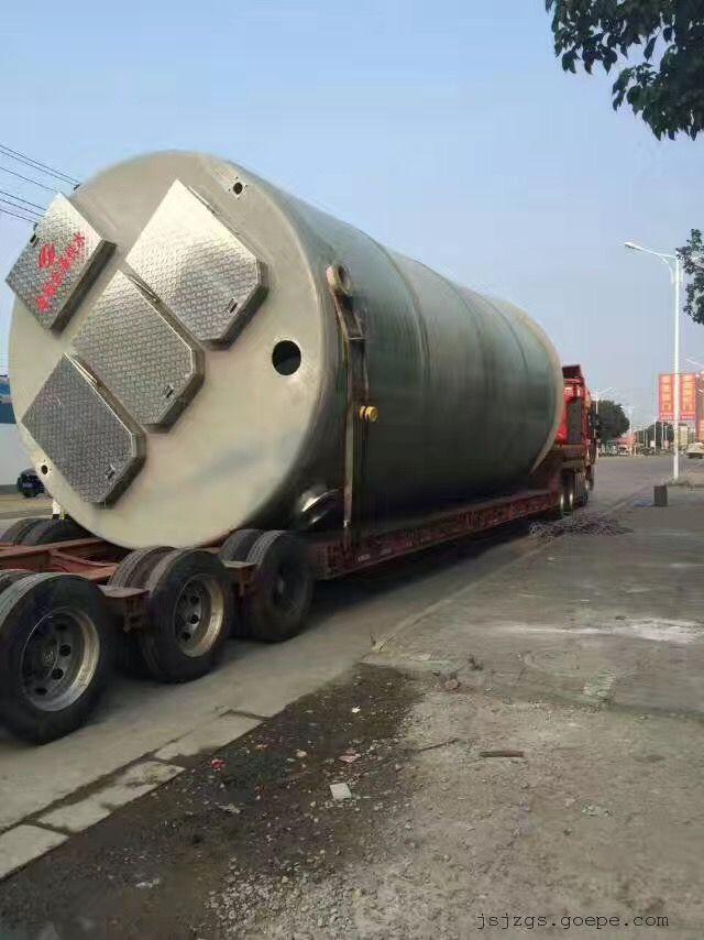 福建龙岩市地埋式3.8×13米一体化污水提升泵站
