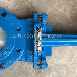 造纸厂专用PZ73手动浆液阀,刀型闸阀
