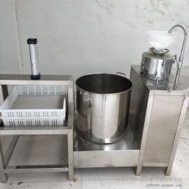 气压双排豆腐成型机不锈钢花生豆腐机新型果蔬豆腐机购机免费培训