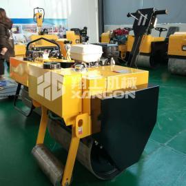 手扶式单钢轮压路机回填土沟槽压实小型压路机
